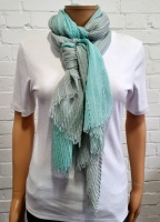 Scarf Ombre Crinkle Finish