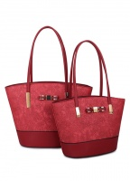Long & Son Floral Enbroidered Effect Tote Bag