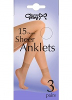 Joanna Gray 3 Pair Pack Anklets