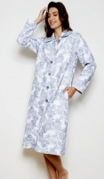 Cottonreal Pure Cotton Quilt Button Housecoat