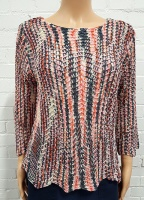Claudia C Zig Zag Detail Knitted Jumper