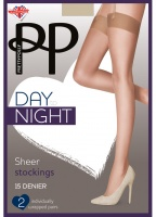 Pretty Polly 15D Day to Night Stockings 2 pair pack