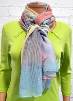 Ladies Fashion Abstract Check Print Scarf