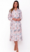 Full length Quilted White Floral Housecoat