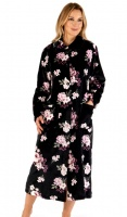 Slenderella Super Soft Floral Button Housecoat