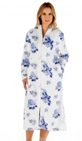 Slenderella Super Soft Floral Zip Housecoat