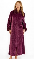Slenderella Luxury Zip Long Length Housecoat
