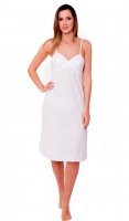 JD Collection 100% Cotton Full Slip with Adjustable Strap