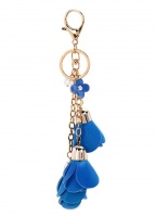 Three Rose Handbag Charm Keyring
