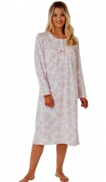 Marlon Cotton Jersey Long Sleeve Nightdress