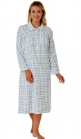 Marlon Floral Brushed Cotton Collared Nightdress