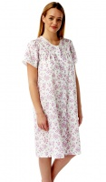 Button Through Classic Poly Cotton Nightdress