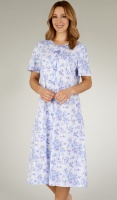 Slenderella Pure Cotton Button Through Nightdress