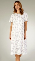 Slenderella Pure Cotton Jersey Button Through Nightdress