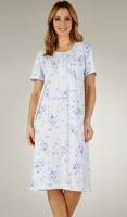 Slenderella Short Sleeve Floral Nightdress