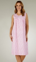 Slenderella Woven Cotton Sleeveless Nightdress
