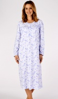 Slenderella Pure Cotton Floral Long Sleeve Nightdress