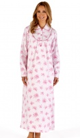 Slenderella Cosy Cotton Collared Full Length Nightdress