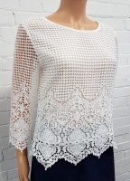 Florri 3/4 Sleeve Layer Lace Top