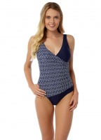 Oyster Bay Geo Wrap Swimsuit