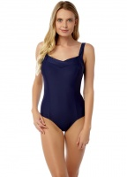 Oyster Bay Plain Pleat Front Swimsuit