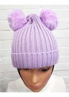 Two Pom Pom Knitted Hat