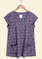 Mistral Thirties Ditsy Print Willow T-shirt