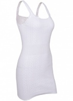 White Swan Long French Neck Cotton Vest